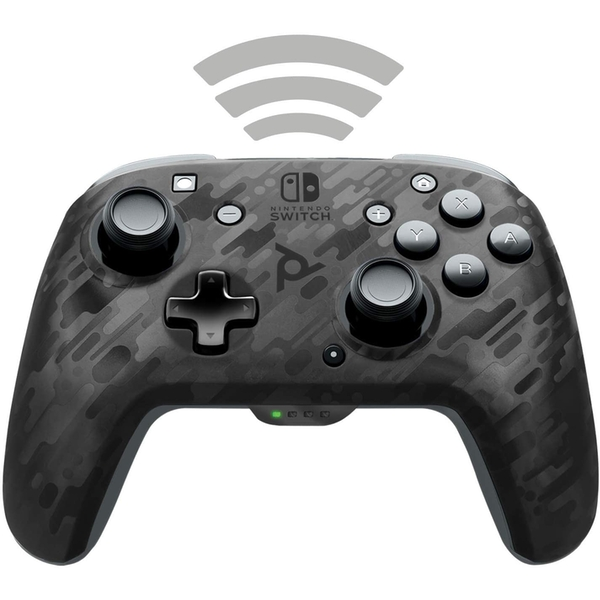 Afterglow Wireless Faceoff Deluxe Controller for Nintendo Switch | Camo Black