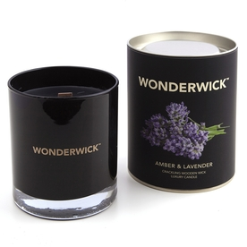 Amber & Lavender (Wonderwick) Noir Glass Candle
