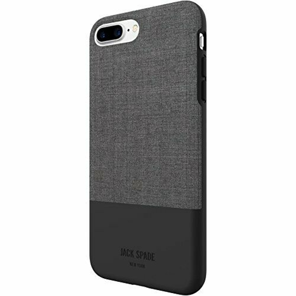 Jack Spade Color-Block Case iPhone 7/8+ - Tech Oxford Gray/Black