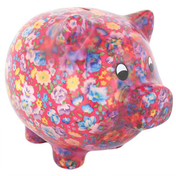 Floral Pig Money Box