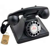 GPO 200 Classic Vintage Telephone with Rotary Dial Black