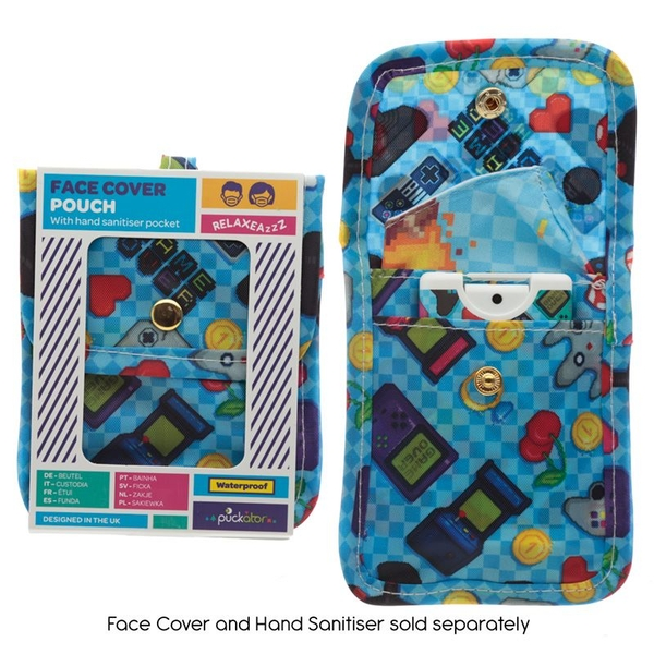 Game Over Face Covering & Hand Sanitiser Pouch