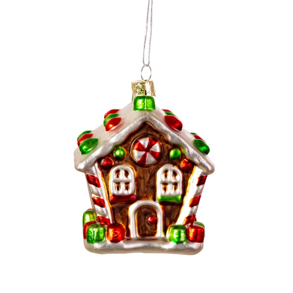 Sass & Belle Classic Gingerbread House Shaped Bauble