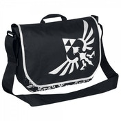 Zelda Triforce Logo Black Messenger Bag