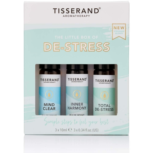 Tisserand Aromatherapy Little Box Of De-Stress Roller Ball Kit (3x10ml)