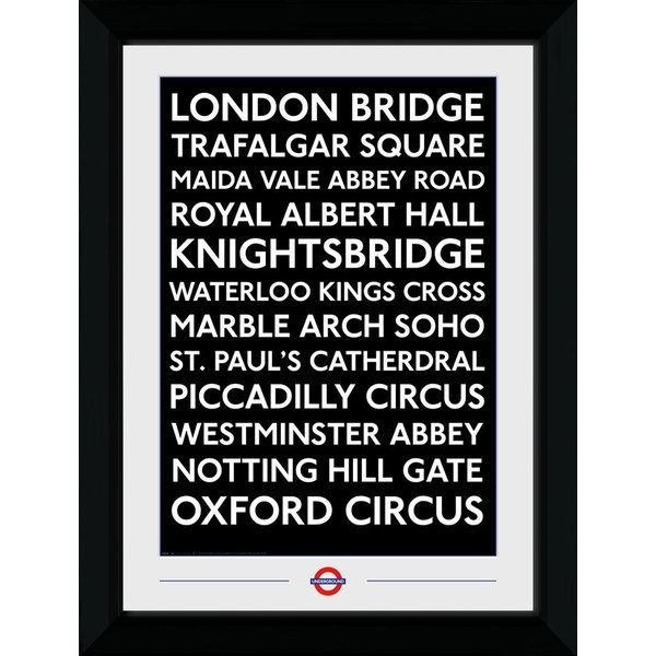 Transport For London Places Framed Collector Print