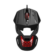 Mad Catz RAT 1 USB Optical 1600DPI Black and Red Ambidextrous
