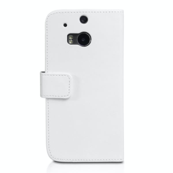 YouSave Accessories HTC One M8 Leather-Effect Wallet Case - White - Image 2