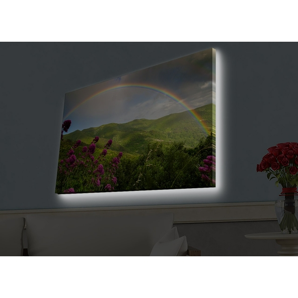 4570HDACT-094 Multicolor Decorative Led Lighted Canvas Painting