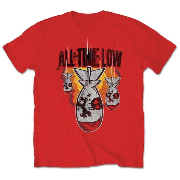 All Time Low - Da Bomb Unisex X-Large T-Shirt - Red