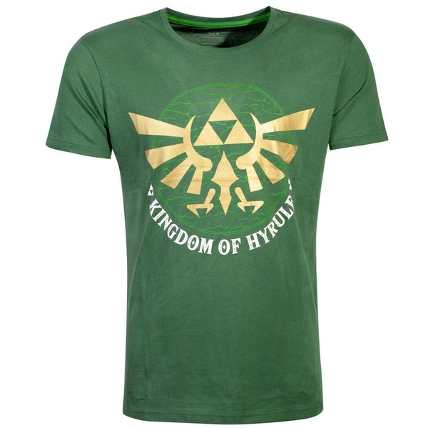 Nintendo - Golden Kingdom Of Hyrule Men's X-Large T-Shirt - Green