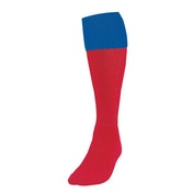 Precision Red/Royal Turnover Football Socks UK Size Junior 12-2