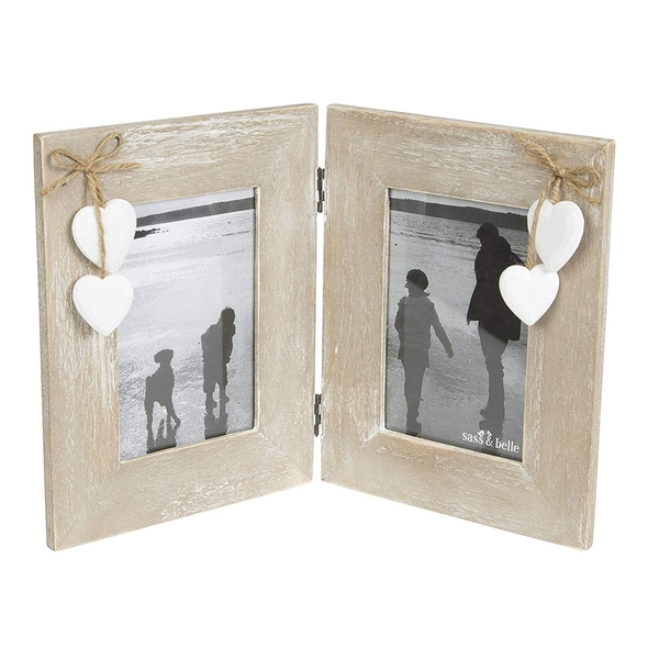Sass & Belle Ashley Farmhouse Double Standing Photo Frame
