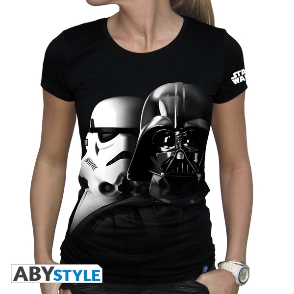 Star Wars - Vador-Troopers Women's Large T-Shirt - Black