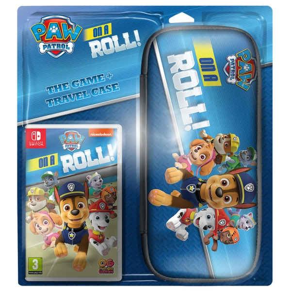 PAW Patrol On a Roll Game + Travel Case Nintendo Switch