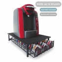 Ex-Display 60 Pod Tassimo Coffee Holder & Dispenser Stand With Drawer Storage Green House Black Used - Like New