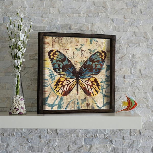 KZM649 Multicolor Decorative Framed MDF Painting