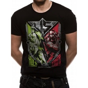 Thor Ragnarok - Thor V Hulk Men's Small T-Shirt - Black