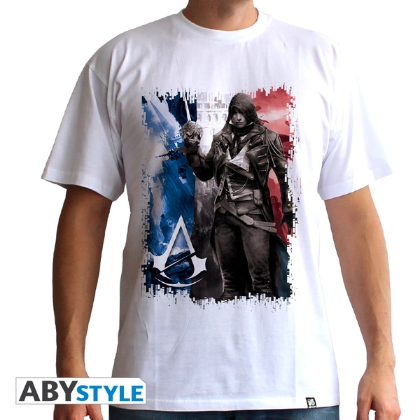 Assassin's Creed - Ac5 - Flag Men's Large T-Shirt - White
