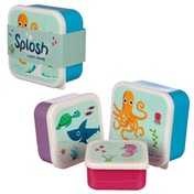 Sealife Design Set of 3 Plastic Lunch Box