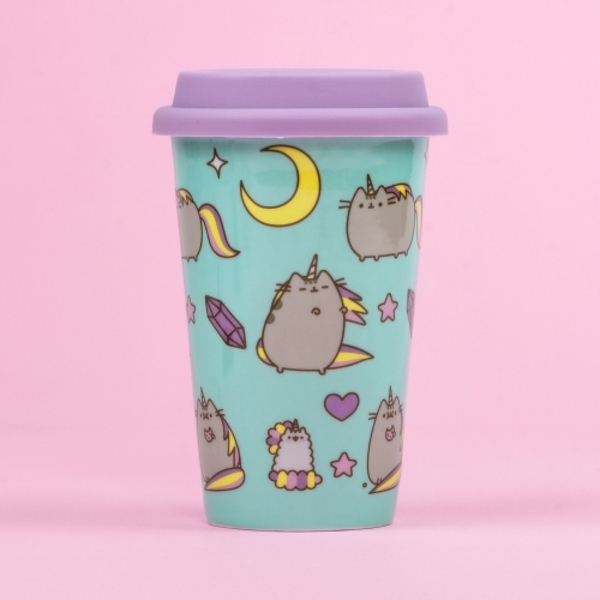 Pusheen - Ceramic Travel Mug - Pattern