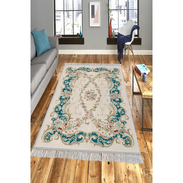 599HFT1802 ELS1837 - Turquoise Multicolor Rug (80 x 200)