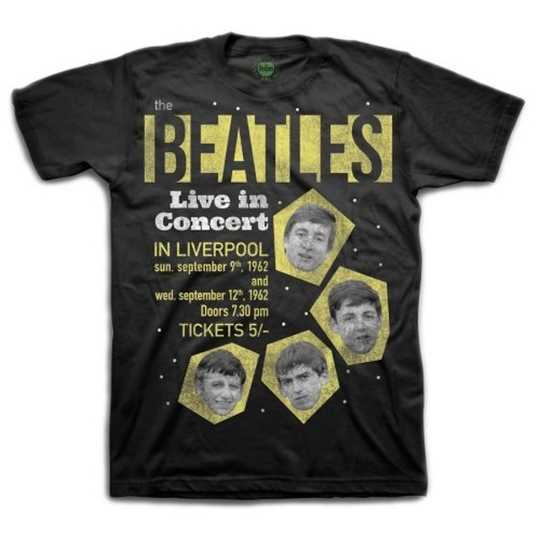 The Beatles - 1962 Live in Concert Unisex Small T-Shirt - Black