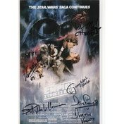 Star Wars Personally Multi Signed 12X8 Prowse, Bullock, Baker, Williams, Mayhew