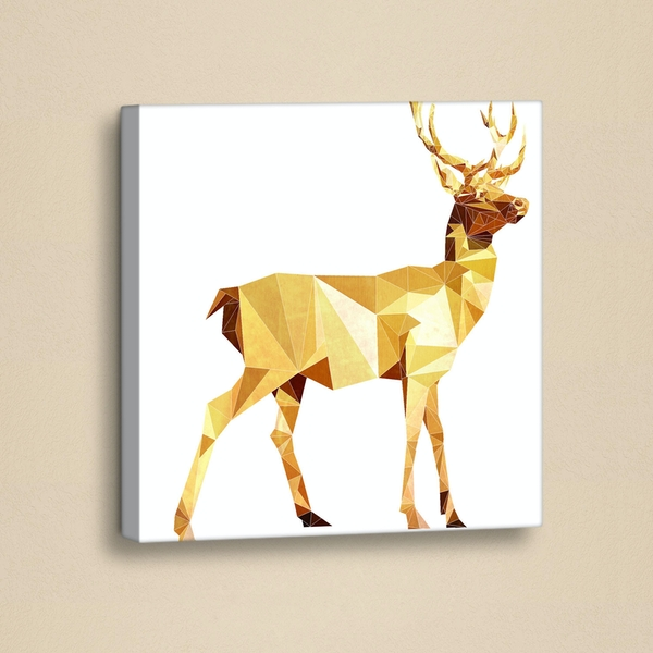 GY002 White Yellow Gold Decorative PU Leather Painting