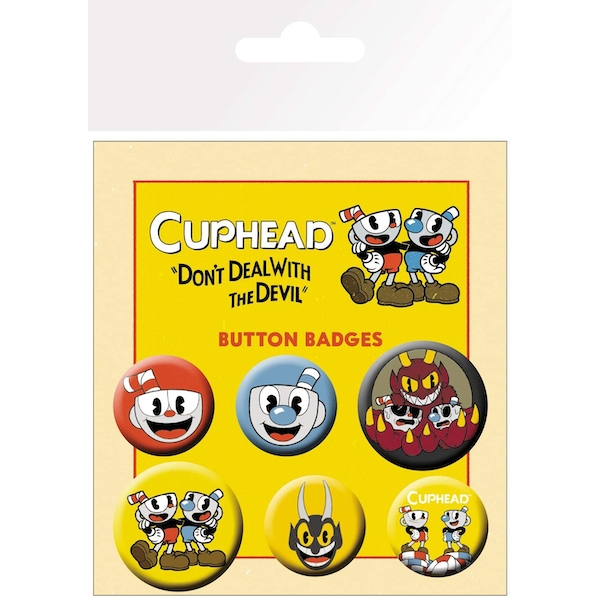 Cuphead - Mix Badge Pack