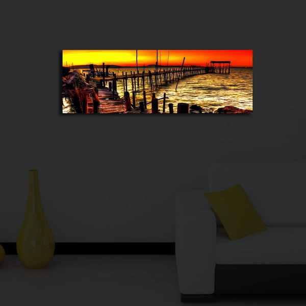 3090?ACT-46 Multicolor Decorative Led Lighted Canvas Painting
