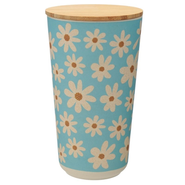Daisy Bamboo Composite Large Round Storage Jar