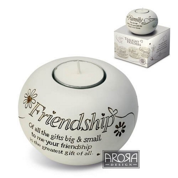 Said with Sentiment Tea Light Holders Friendship