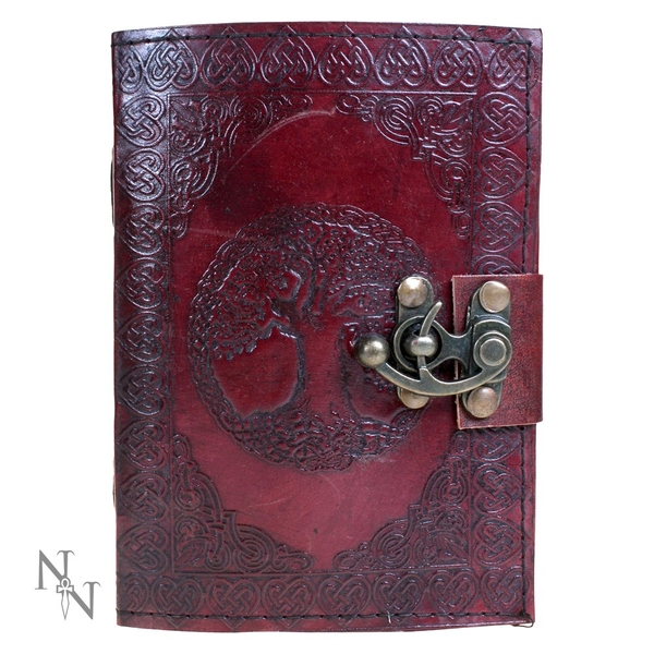 Tree Of Life Leather Journal with Lock 13x18cm