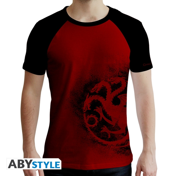 Game Of Thrones - Targaryen Red & Men's XX-Large T-Shirt - Red & Black