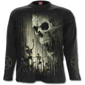 Waxed Skull Women's XX-Large Long Sleeve T-Shirt - Black
