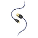 """Hama """"Sporty"""" Charging/Data Cable, Micro-USB, 1.5 m, blue/pink"""