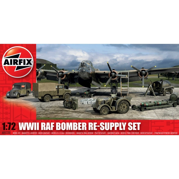 Bomber Re-supply Set Series 5 Military Air Fix Model Kit