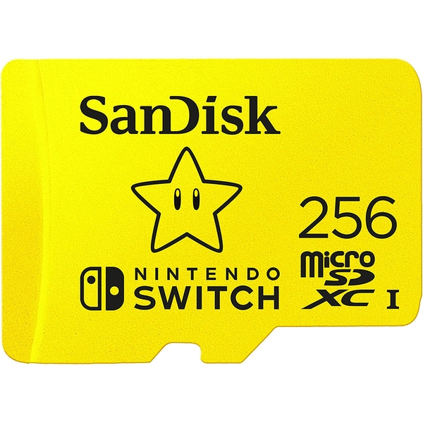 SanDisk microSDXC UHS-I card for Nintendo 256GB - Nintendo licensed Product Yellow