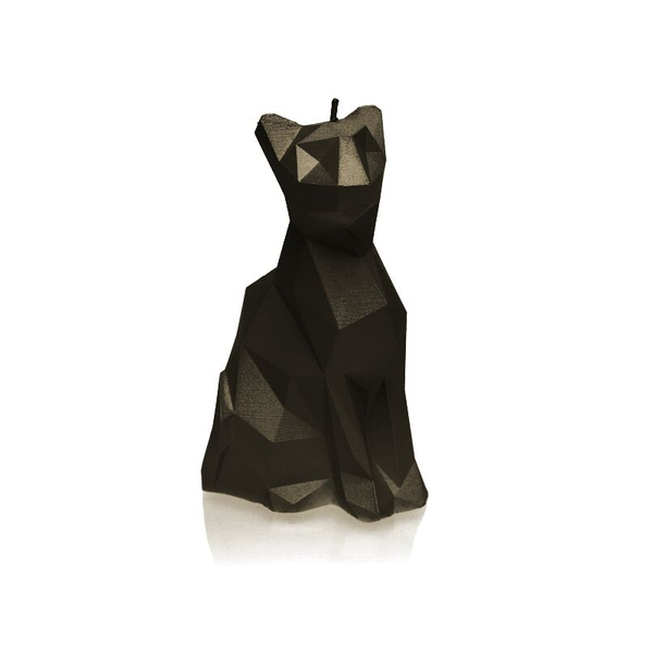 Black Low Poly Cat Candle