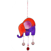 Red/Purple Elephant Suncatcher