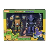 Michelangelo V Foot Soldier (Teenage Mutant Ninja Turtles Cartoon) Neca Action Figure 2-Pack