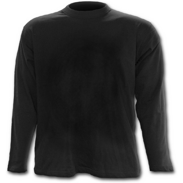 Urban Fashion Men's Large Long Sleeve T-Shirt - Black