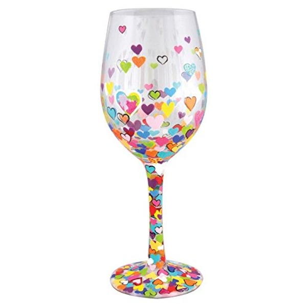 Lolita Hearts A Million Wine Glass
