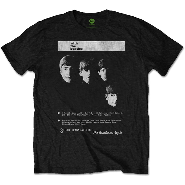 The Beatles - With The Beatles 8 Track Unisex XX-Large T-Shirt - Black