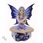 Amethyst Lotus Fairy Figurine