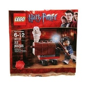 Harry Potter With Trunk and Hedwig Owl Lego Mini Figure