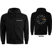 Pink Floyd - Circle Logo Men's X-Large Zipped Hoodie - Black