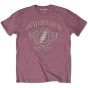 Grateful Dead - Bolt Men's XX-Large T-Shirt - Heather Cardinal