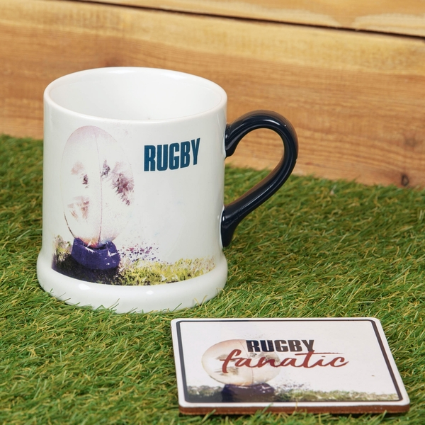 Armchair Supporters Society Mug & Coaster Gift Set - Rugby